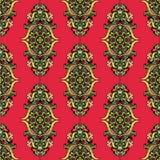 Rotes ungewöhnliches nahtloses Vektor-Muster Stockfotos