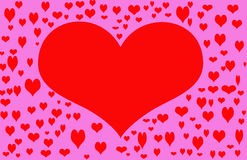Rotes Valentinsgruß-Inneres Stockfotografie