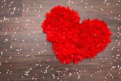 Rotes Valentinsgrußinneres lizenzfreie stockbilder