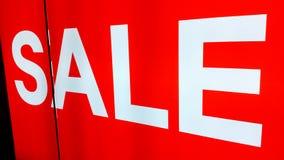 Rotes Verkaufszeichen Stockbilder