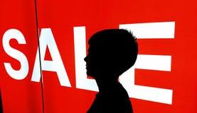 Rotes Verkaufszeichen Lizenzfreie Stockfotos
