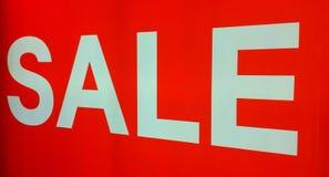 Rotes Verkaufszeichen Lizenzfreies Stockfoto