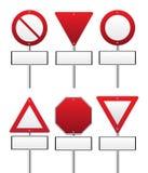Rotes Verkehrszeichen Stockfoto