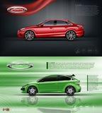 Rotes vorbildliches Limousineauto Digital-Vektors Stockbild
