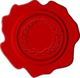 Rotes Wachs mit Scheitel Stockfoto