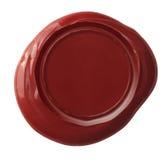 Rotes Wachssiegel lokalisiert mit Beschneidungspfad Lizenzfreies Stockbild