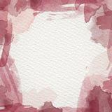 Rotes Wasser-Farbrahmen Stockbilder