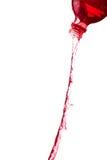 Rotes Wasser spritzt Stockfotografie