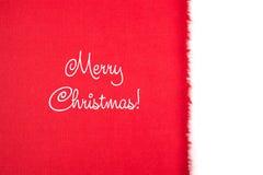 Rotes Weiß der Weihnachtskarte Lizenzfreie Stockfotografie