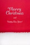 Rotes Weiß der Weihnachtskarte Lizenzfreie Stockfotos