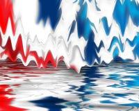 Rotes weißes Digital und blau Stockfotos