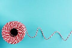 Rotes weißes Verpackung Weihnachtsseil Lizenzfreies Stockfoto