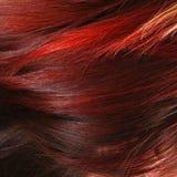 Rotes weibliches Haar lizenzfreie stockfotos