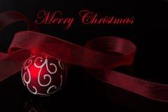 Rotes Weihnachten Lizenzfreies Stockfoto