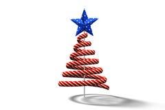 Rotes Weihnachtsbaum-Spiralendesign Stockbild