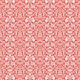 Rotes Weihnachtsdamast-Muster-nahtloser Hintergrund Stockfoto