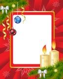Rotes Weihnachtsfeld Stockbild