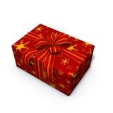 Rotes Weihnachtsgeschenk Lizenzfreies Stockbild