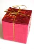 Rotes Weihnachtsgeschenk Stockfoto