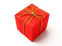 Rotes Weihnachtsgeschenk stockbild