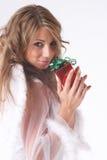 Rotes Weihnachtsgeschenk Lizenzfreie Stockbilder