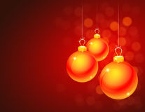 Rotes Weihnachtsthema Stockfoto