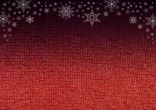 Rotes Wolle-knitwork verblassen, um zu schwärzen Lizenzfreies Stockbild