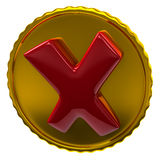 Rotes Zeckenzeichen Lizenzfreies Stockfoto