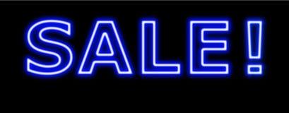 Rotes Zeichenneon des Verkaufs -50%off auf Schwarzem Stockbild