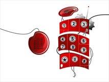 Rotes zellulares Telefon Stockfotografie