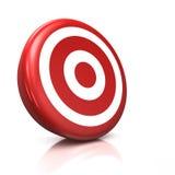 Rotes Ziel Stockbild