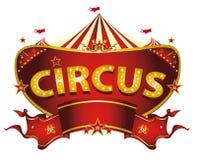 Rotes Zirkuszeichen Stockbild