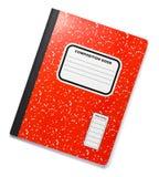 Rotes Zusammensetzungs-Buch Lizenzfreie Stockbilder