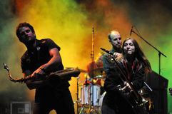 Rotfront band from Berlin performs a live concert Royalty Free Stock Photo