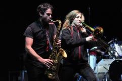Rotfront zespół od Berlin wykonuje żywego koncert Zdjęcia Royalty Free