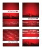 Rotgruppe des Prospekts 2017 Lizenzfreie Stockbilder