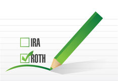 Roth check list selection illustration Royalty Free Stock Image