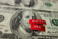 Roth IRA concept royalty free stock image