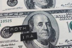 Roth IRA-etiketten royalty-vrije stock foto's