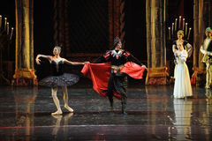 Rothbart also brought his daughter Ogi Liya-The prince adult ceremony-ballet Swan Lake Stock Photography