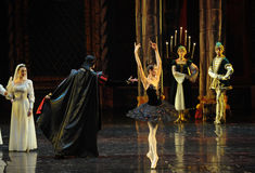 Rothbart also brought his daughter Ogi Liya-The prince adult ceremony-ballet Swan Lake Royalty Free Stock Photos