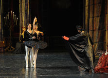 Rothbart also brought his daughter Ogi Liya-The prince adult ceremony-ballet Swan Lake Stock Images