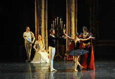 Rothbart also brought his daughter Ogi Liya-The prince adult ceremony-ballet Swan Lake Stock Image