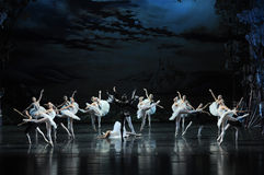 Rothbart used magic to curse the White Swan-The prince adult ceremony-ballet Swan Lake. In December 20, 2014, Russia's St Petersburg Ballet Theater in Jiangxi Royalty Free Stock Photo