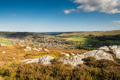 Rothbury Town from the Terraces Royalty Free Stock Photography