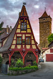 Rothenberg German traditional house with beautiful morning sunrise sky. Germany Royalty Free Stock Photos