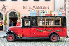 ROTHENBURG, ALLEMAGNE - 24 OCTOBRE 2017 : Le magasin célèbre de Noël avec son musée est ouvert tout au long de l'année et attire Photo libre de droits