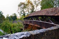 Rothenburg-Brücke Lizenzfreies Stockbild