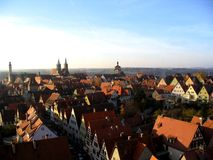 Rothenburg City View. View from a tower of Rothenburg (ob der Tauber) city in Germany Royalty Free Stock Photo