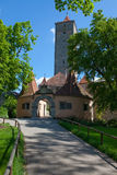 Rothenburg Entrance Gate. A photo of one of the entrance gates into the walled city of Rothenburg, Germany Stock Photo